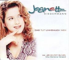 Jeanette (Biedermann) Das tut unheimlich weh (1999) [Maxi-CD]