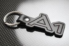 AUDI A1 Luxury Leather Keyring Keychain Schlüsselring Porte-clés TFSI Sport TDi