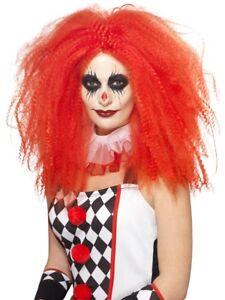 Adult Red Clown Wig Harlequin Jester Ladies Halloween Fancy Dress Wig New