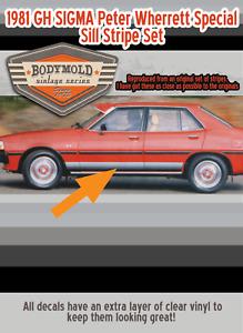 Mitsubishi Sigma 1981 Peter Wherrett Special sill stripes