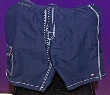 Vtg Tommy Hilfiger Swim Trunks Board Shorts Embroidered Size SMALL Classic color