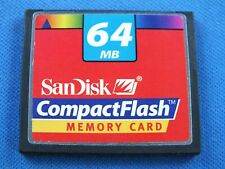 Original SanDisk 64 MB Compact Flash Card Foto CompactFlash CF Karte High Speed