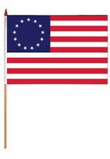 "12x18 12""x18"" Historical Betsy Ross 12 Stars Stick Flag wood Staff"