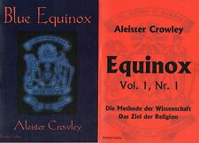 RED & BLUE EQUINOX - Aleister Crowley 2 x BUCH - NEU