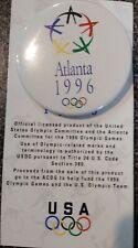 1996 Atlanta Olympic Bid Pin Button USA Card