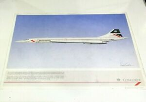 Squadron Prints British Airways Concorde Seattle G-BOAG Picture Drawing A4 size