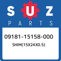 09181-15158-000 Suzuki Shim(15x24x0.5) 0918115158000, New Genuine OEM Part