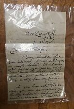 Albert J. Edmonds, Buddhist/Christian, Handwritten Letter 1916, Francis N. Thorp