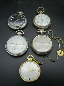 5 Taschenuhren Konvolut Sammlung Lot Pocket Watch