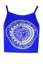 Camisa de mujer de color principal azul talla L