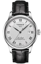 NEW TISSOT LE LOCLE POWERMATIC 80 WHITE DIAL BLACK LEATHER STRAP T0064071603300