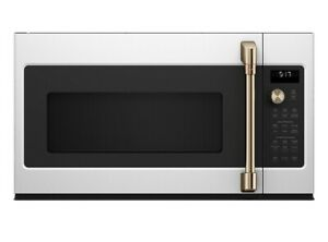 """GE Cafe Matte White 30"""" Convection Over The Range Microwave Oven 1.7 cu. ft."""
