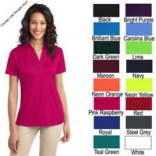Womens Dri Fit Polo Ladies Golf Shirt Moisture Wicking PortAuthority L540 XS-4XL