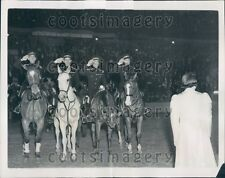 1937 Members of Canada Army Riding Team Madison Square Garden  Press Photo
