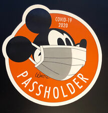 "Disney Passholder Magnet Mickey Mouse Mask 4"" Magnet Ap Annual pass holder 2020"