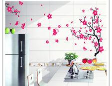 Pink Cherry Blossom Flowers Tree Wall Stickers Art Mural Nursery Wallpaper