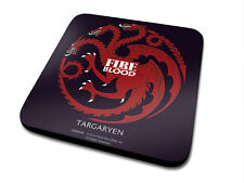 GAME OF THRONES TARGARYEN FIRE & BLOOD DRINKS COASTER NEW OFFICIAL MERCHANDISE