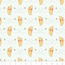Camelot Winnie The Pooh Honeybee in White 100% cotton fabric by the yard
