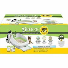 Purina Tidy Cats Litter Box System, Breeze System Starter Kit Litter Box, Litter