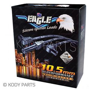 BLACK Eagle Ignition Leads 10.5mm - for Nissan Patrol GQ 4.2L Y60 TB42S TB42E