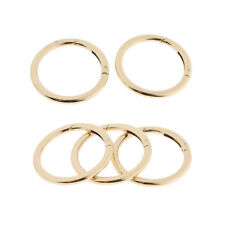 5x Round Carabiners Camping Spring Snap Clip Hook Keychain Keyring Gold 38mm
