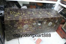 "64"" Old Chinese Wood Painted Palace Royal Figural Armoire wooden cupboard Chests"
