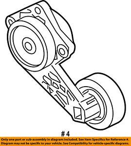 FORD OEM-Serpentine Drive Fan Belt Tensioner 1L2Z6B209AA