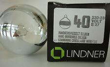 LINDNER Globlampe G80 E27 Anillo espejo PLATA 40W ø 80mm Bombilla 220-230V
