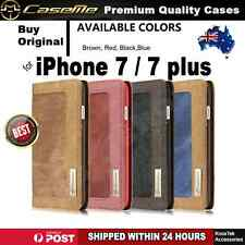 New Style Canvas Flip Magnetic Wallet Cover Case for iPhone 7 / iPhone 7 Plus