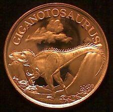 1 oz Copper Round - Giganotosaurus Dinosaur #69
