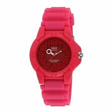 Women Sport Watch Pink Silicone Rubber Strap Water Resistant 100M/10ATM