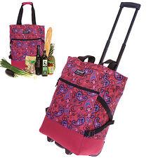 Shopper PUNTA Einkaufstrolly Einkaufskorb Trolley Einkaufsroller 3100 PAISLY ROT