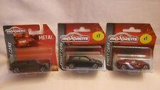MAJORETTE X3 NEW OUT,RENAULT ALPINE A110-50,VW GOLT GTi,CHEVROLET SILVERADO,MIB