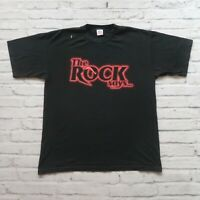 Vintage 1999 The Rock Says Wrestling Tshirt Size XL Black WWF 90s
