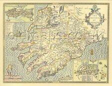 Munster IRISH Replica John Speed 17c. Old Map Full Size PRINT UNIQUE GIFT!