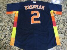 New!!! Alex Bregman Houston Astros #2 Blue Rainbow Stitched Baseball Jersey XL