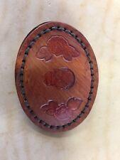 Men's Leather Custom Carving Sugar Skull Belt Buckle