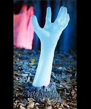 Light Up Life Size COLOR CHANGING ZOMBIE HAND ARM Halloween Prop Yard Decoration