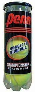 Penn Championship Tennis Balls - Extra Duty Felt Pressurized Tennis Balls 1 Can
