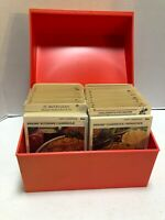 Betty Crocker Recipe Card Library Orange Box Nearly-Complete Vintage 1973