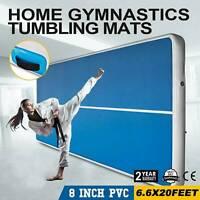 13/16/20FT Pro Floor Home Mat Gymnastics Tumbling Mat GYM With Pump New 2021 US