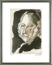 Armin Mueller-Stahl (geb. 1930), signierte, gerahmte RARITÄT: Theodor Fontane