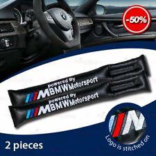 2 PC Leather Handbrake Gap Spacer Filler Car Seat Stopper Pads for All BMW BLACK