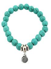 Armband Türkis silber rund Amulett Vintage NEU Boho Hippie Shamballa Damen OVP