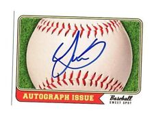 Lewin Diaz autographed signed signature baseball card Twins prospect