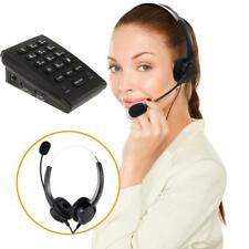 Office Telephone With Corded Headset Call Center Phone & Dial Pad Hands-free