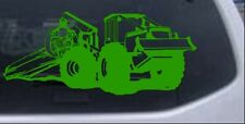 Log Skidder Logging Car or Truck Window Laptop Decal Sticker Lime 12X5.1