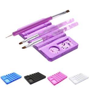 Nail Art Design Acrylic UV Gel Brush Pen Rest Holder Stand Tool Glitter Pink