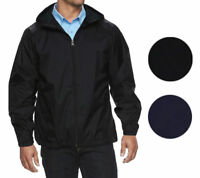 Men's Water Resistant Zip Up Hooded Lightweight Windbreaker Rain Jacket