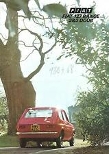 Fiat 127 Range 2 & 3 Door UK Brochure 1974 16 Pages In Excellent Condition